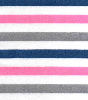 Snuggle Flannel Fabric-Stripe Prism Pink