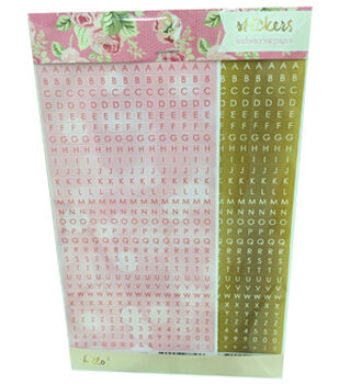 Webster's Pages Alpha Sticker Pad 4x9