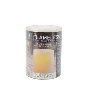 """Hudson 43™ Candle & Light Collection 4""""LED Flameless Real Wax Candles-Cream"""