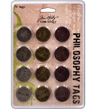Tim Holtz Idea-ology Philosophy Tags Antique/Metallic