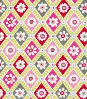 Keepsake Calico™ Cotton Fabric-Diamond Floral Multi, , hi-res