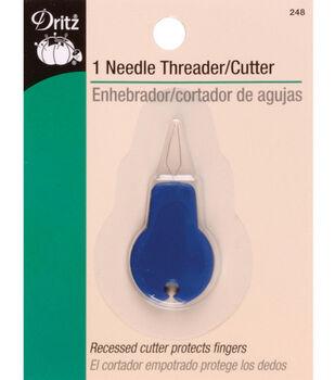 Dritz® Needle Threader With Cutter-Plastic 1/Pkg
