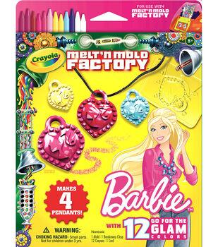 Crayola Melt 'n Mold Factory Kit-Barbie -Go For The Glam