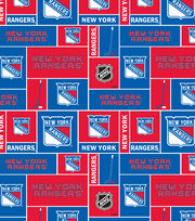 New York Rangers  NHL Block Cotton Fabric, , hi-res