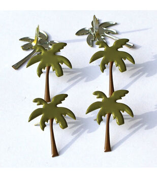 Eyelet Outlet Brads-Palm Tree