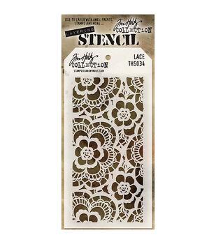 "Tim Holtz® 4.125""X8.5"" Layered Stencil-Lace"