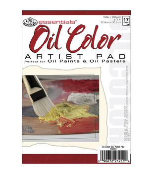"Royal Brush Essentials Oil Color Paper Pad 5""X7""-17 Sheets"