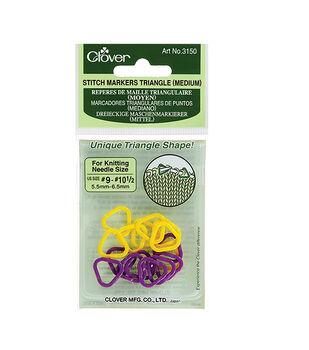Triangle Stitch Markers Medium-Sizes 9-10-1/2 2 Colors 16/Pkg