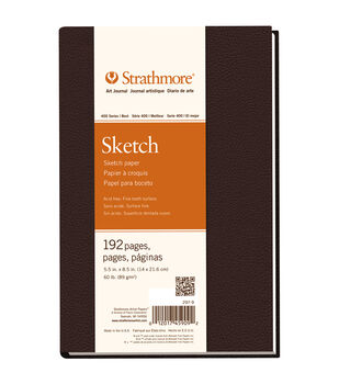 """Strathmore Sketch Book 5.5""""X8.5""""-60lb 192 Pages"""