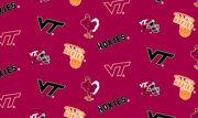 Virginia Tech NCAA  Fleece Fabric, , hi-res