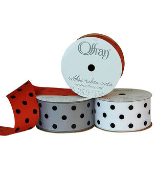 "Offray 1.5""x9' Dippy Dots Grosgrain Ribbon"