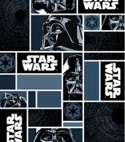 Star Wars Darth Vader In Blocks Fleece Fabric, , hi-res