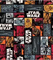 Star Wars VII Characters In Squares Cotton Fabric, , hi-res