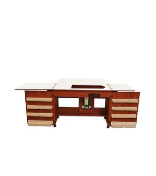 Homespun Bertha Sewing Machine Cabinet Cherry
