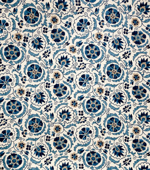 Jaclyn Smith Upholstery Fabric-Clarinet/Cobalt
