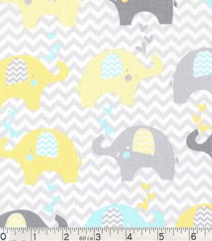 Nursery Cotton Fabric-Dream Big Elephant Line