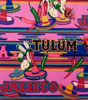 Alexander Henry Cotton Fabric-Tulum Hot Pink                          , , hi-res