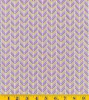 Made In America Cotton Fabric-Chevron Purple, , hi-res