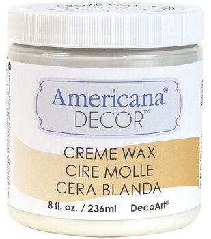 Americana Decor Creme Wax 8oz-Clear