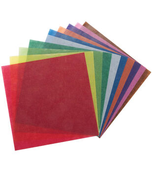 "Folia Origami Paper 6""X6"" Transparent 500/Pkg-Assorted"