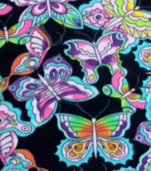 Anti-Pill Fleece Fabric-Tie Dye Butterfly