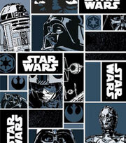 Star Wars Characters In Blocks Cotton Fabric, , hi-res