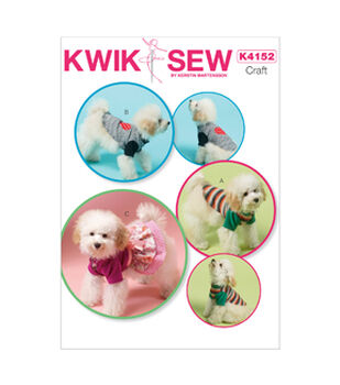 Kwik Sew K4152-Dog Clothes-All Sizes In One Envelope