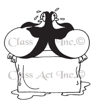 Class Act Just Chillin' Cling Mounted Rubber Stamp