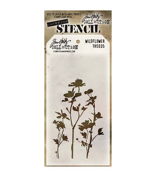 Stampers Anonymous Tim Holtz Wildflower Layered Stencil