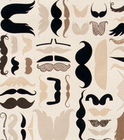 Alexander Henry Cotton Fabric-A Must Stache Tea, , hi-res