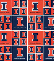 University of Illinois NCAA  Cotton Fabric, , hi-res