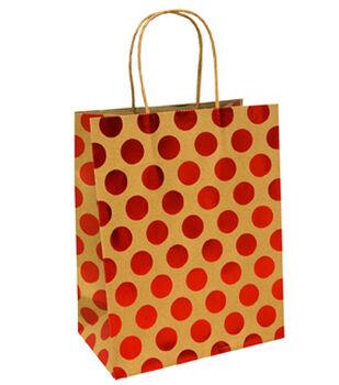 Holiday Cheer Medium Bag-Red Dot