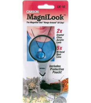 MagniLook Lanyard Magnifier-2X Magnification With 5X Bi-Focal Lens