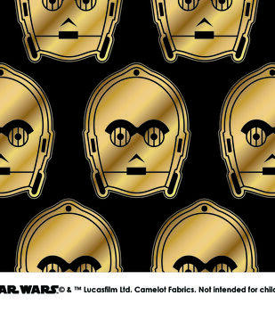 Star Wars™ Metallic C3PO Cotton Fabric