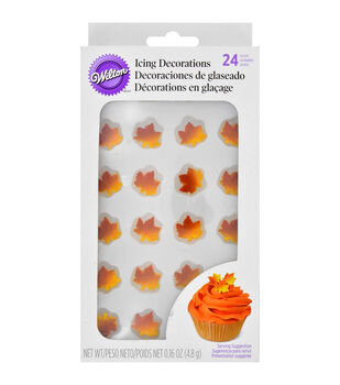 Wilton® Royal Icing Decorations 12/Pkg-Autumn Ombre Leaf