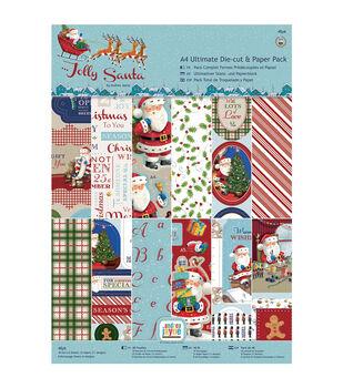 Papermania Jolly Santa Ultimate A4 Die-Cuts & Paper Pack