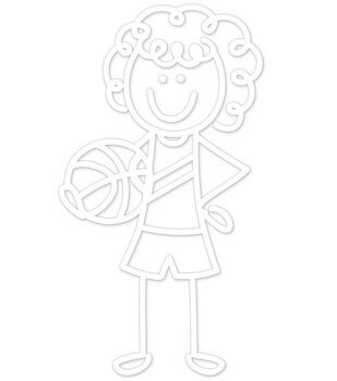 Plaid® Me&My Peeps Family Auto Decal-Basketball Girl