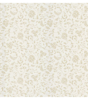 Bed Breakfast Taupe Jacobean Stencil Wallpaper Sample