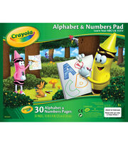 "Crayola Alphabet and Numbers Pad 10""X8""-30 Sheets/Pkg, , hi-res"