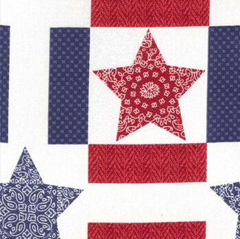 Holiday Inspirations Fabric-Star Quilt Patch 3