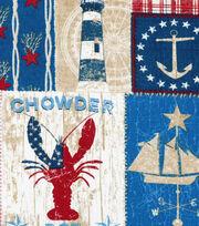 Nautical Fabric-Patchwork Print, , hi-res