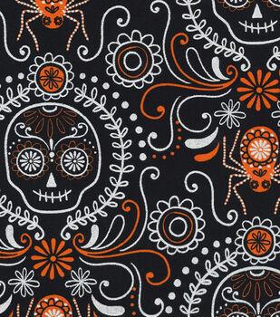 Holiday Inspirations Fabric- Halloween Dod Black Metallic