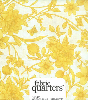Quarters Assorted Cotton Fabric-Yellow
