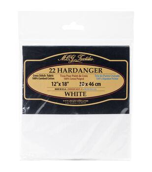 MCG Textiles 22 Count Hardanger White Fabric
