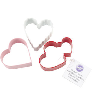 Wilton® Metal Cookie Cutter Set 3/Pkg-Heart Ring