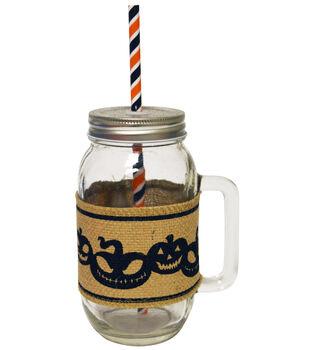 Glass Jar Burlap Band 24 oz Jack Lant
