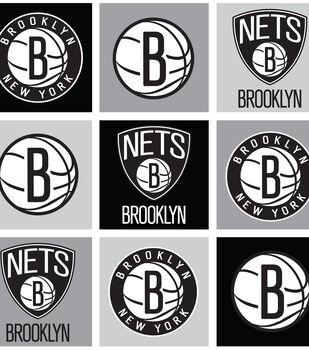 Brooklyn Nets NBA Block Fleece Fabric