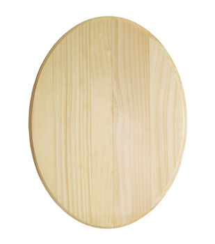 "Pine Oval Plaque-9""X12""X.63"""