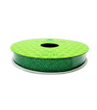 St. Patrick's Day Ribbon 0.38''x9'-Full Glitter