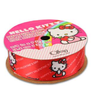 Hello Kitty Valentines Ribbon-Happy Valentines Day